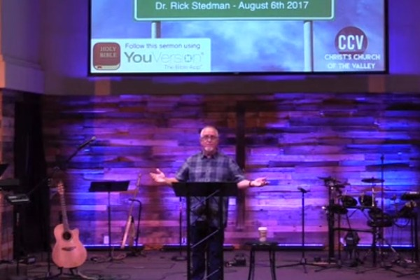 August 06, 2017, 'Your Best Days Are Ahead' - Dr. Rick Stedman
