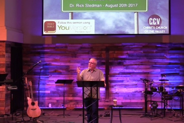 August 20, 2017, 'Your Best Days Are Ahead' - Dr. Rick Stedman