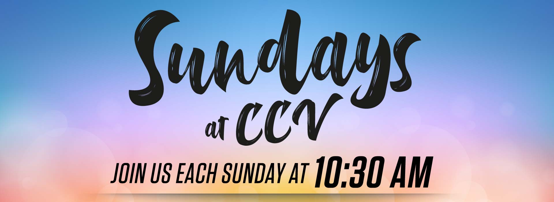 Sundays At CCV